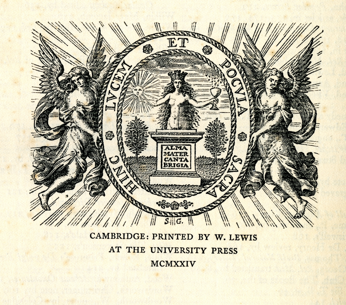 A BIBLIOGRAPHY OF SIR THOMAS BROWNE printers mark