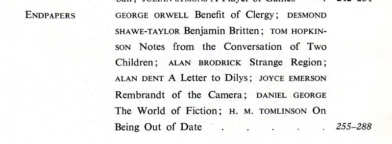 1944SaturdayBook_contents_Orwell