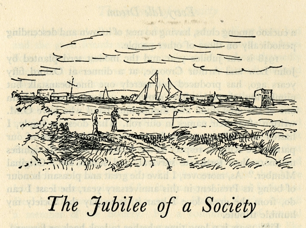 The Jubilee of a Society