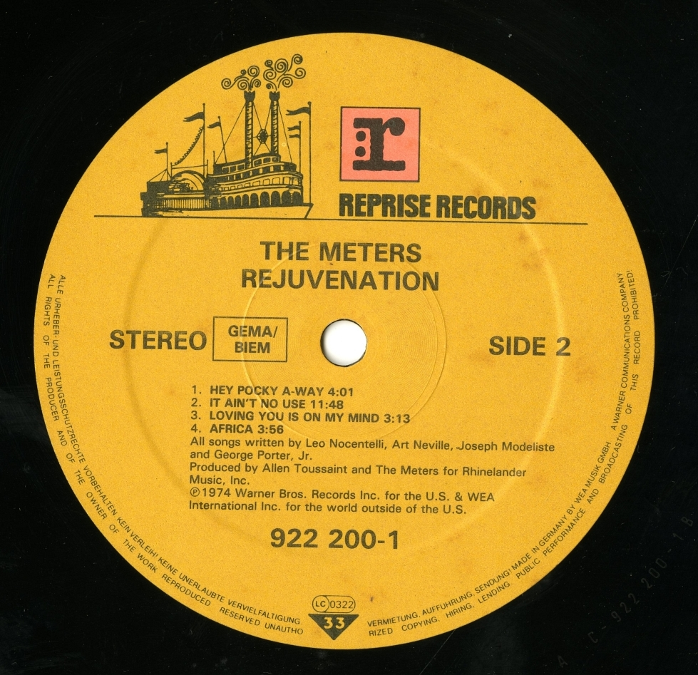 The Meters Rejuvenation Label