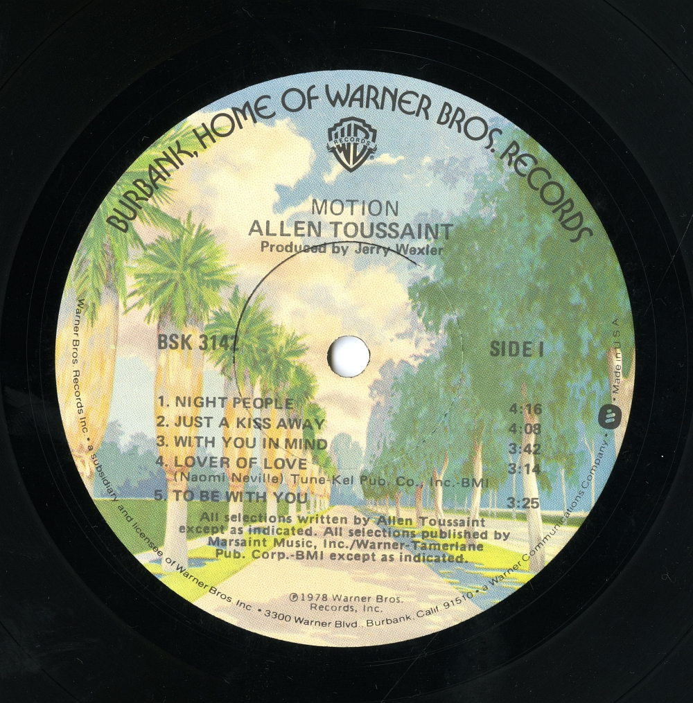 Allen Toussaint MOTION label