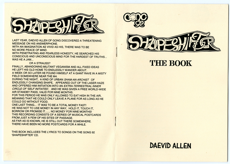 1992SHAPESHIFTER The Book