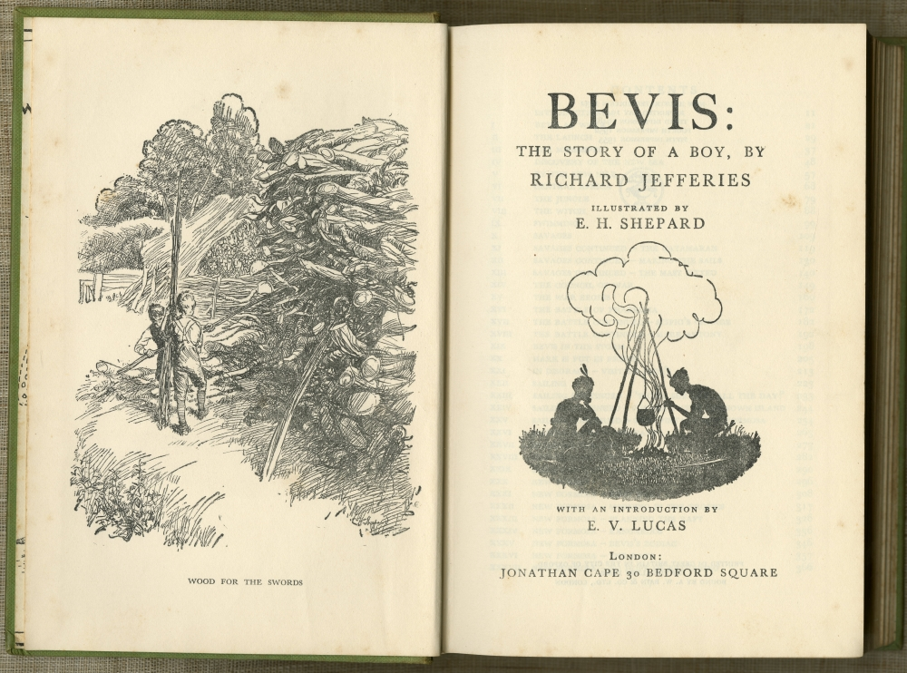 Richard Jefferies『BEVIS: THE STORY OF A BOY』1932年版口絵と扉