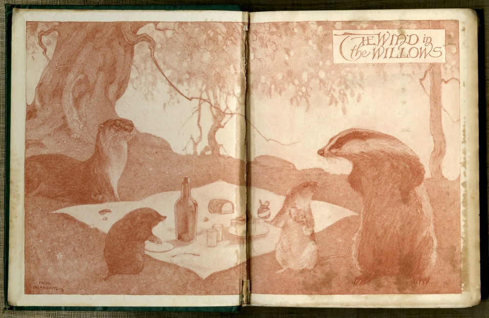 Kenneth Grahame『The Wind In The Willows』1913年第7版見返し