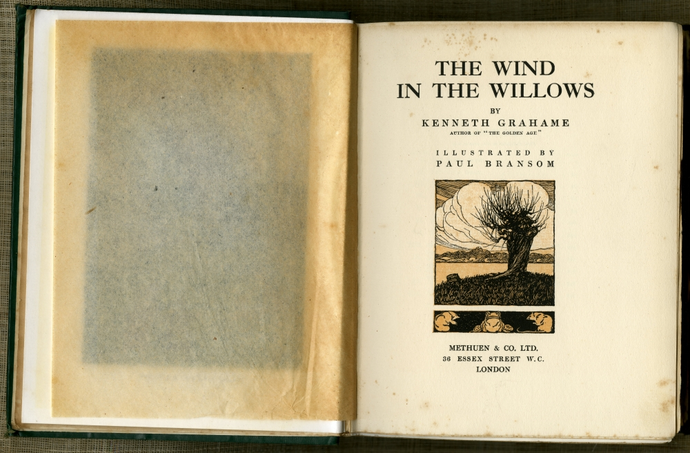 Kenneth Grahame『The Wind In The Willows』1913年第7版扉