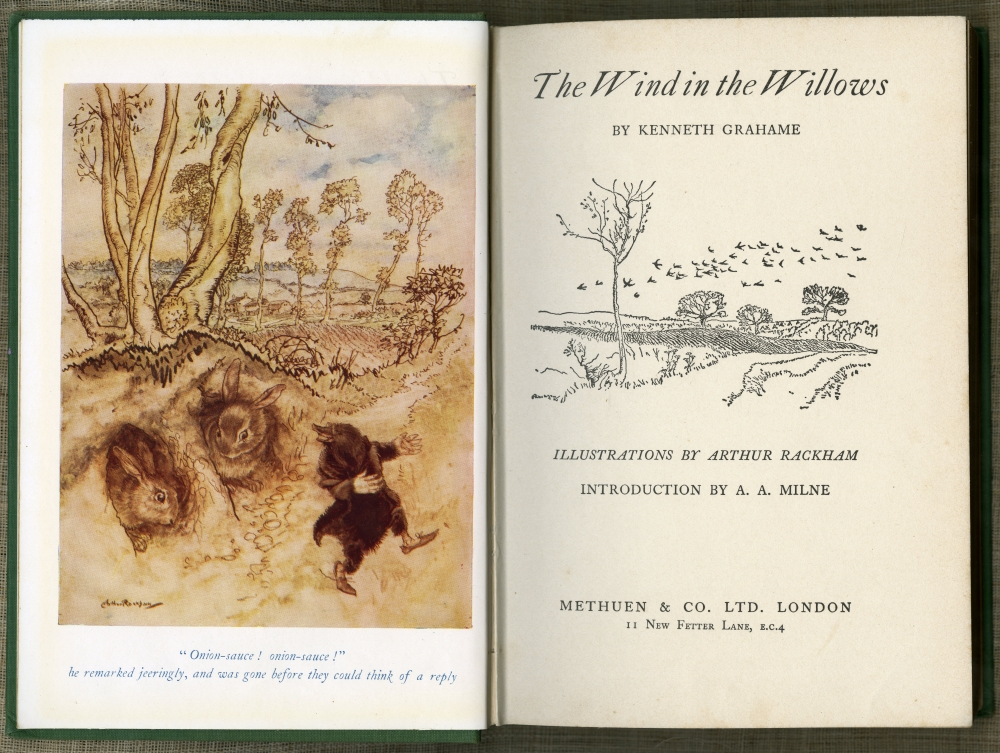 Kenneth Grahame『The Wind In The Willows』 ラッカム装画版口絵と扉