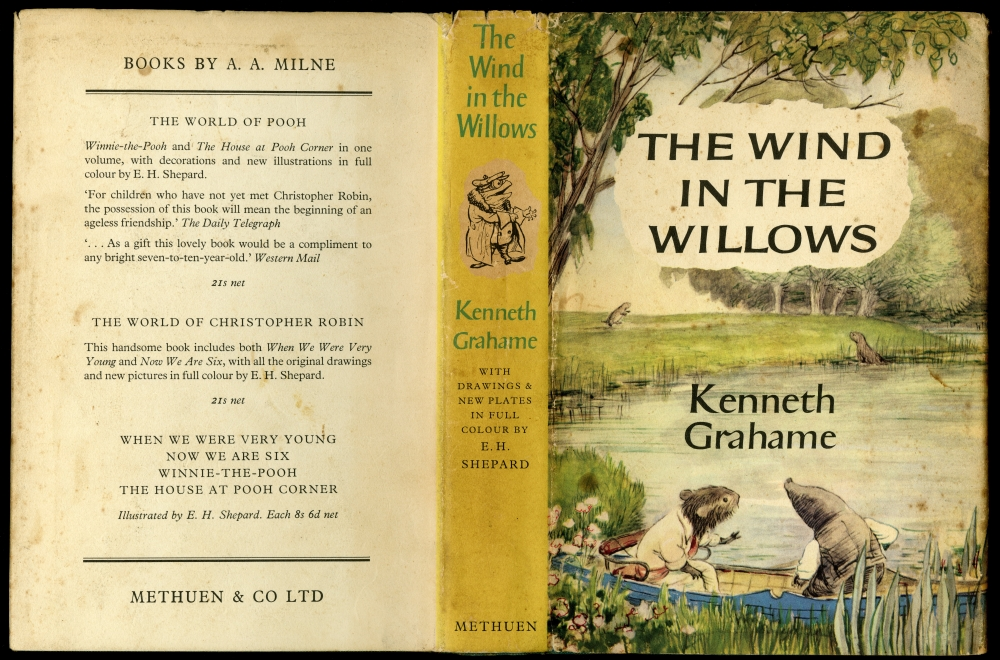 Kenneth Grahame『The Wind In The Willows』1959年版ダストラッパー
