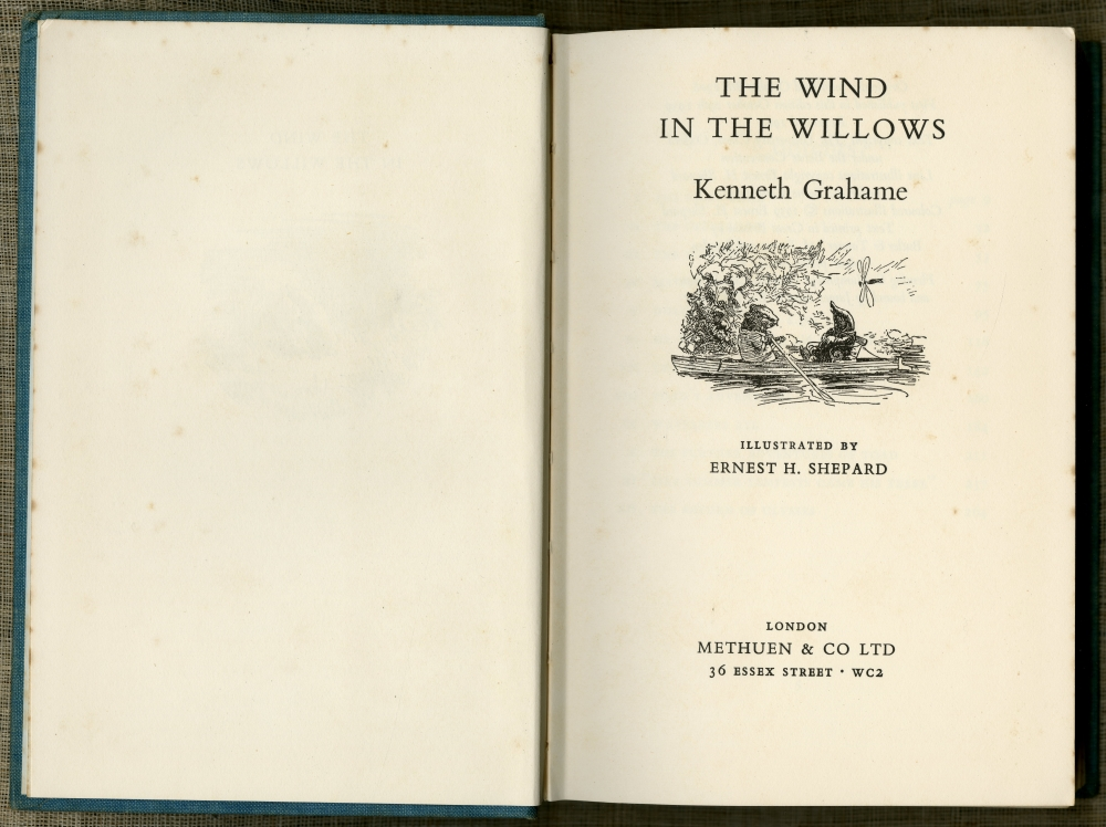 Kenneth Grahame『The Wind In The Willows』1959年版扉