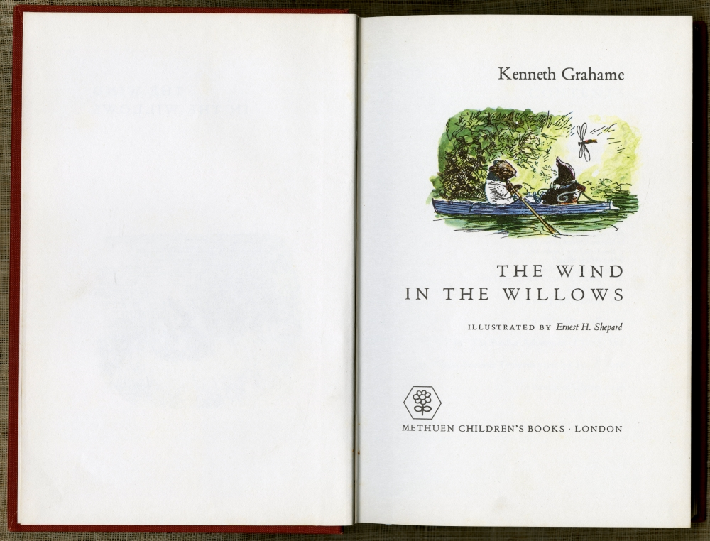 Kenneth Grahame『The Wind In The Willows』1971年版扉
