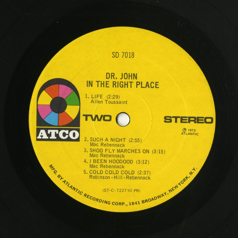 『In The Right Place』(1973年、ATCO)ラベル02