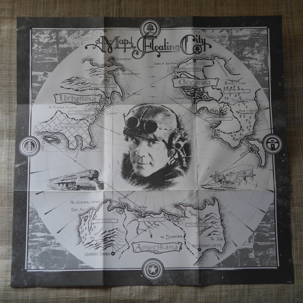 Thomas Dolby『A MAP OF THE FLOATING CTY』(2011年、EMI)の地図
