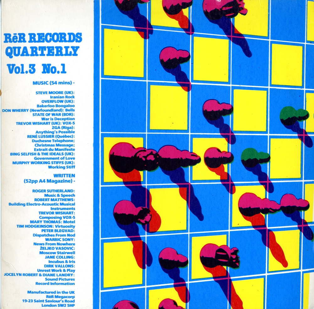 1989年の『RēR Records Quarterly Vol. 3 No.1』表ジャケット