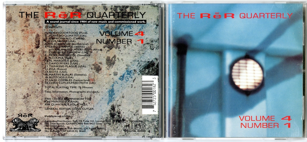 1994年の『ReR Records Quarterly Vol. 4 No.1』CD01