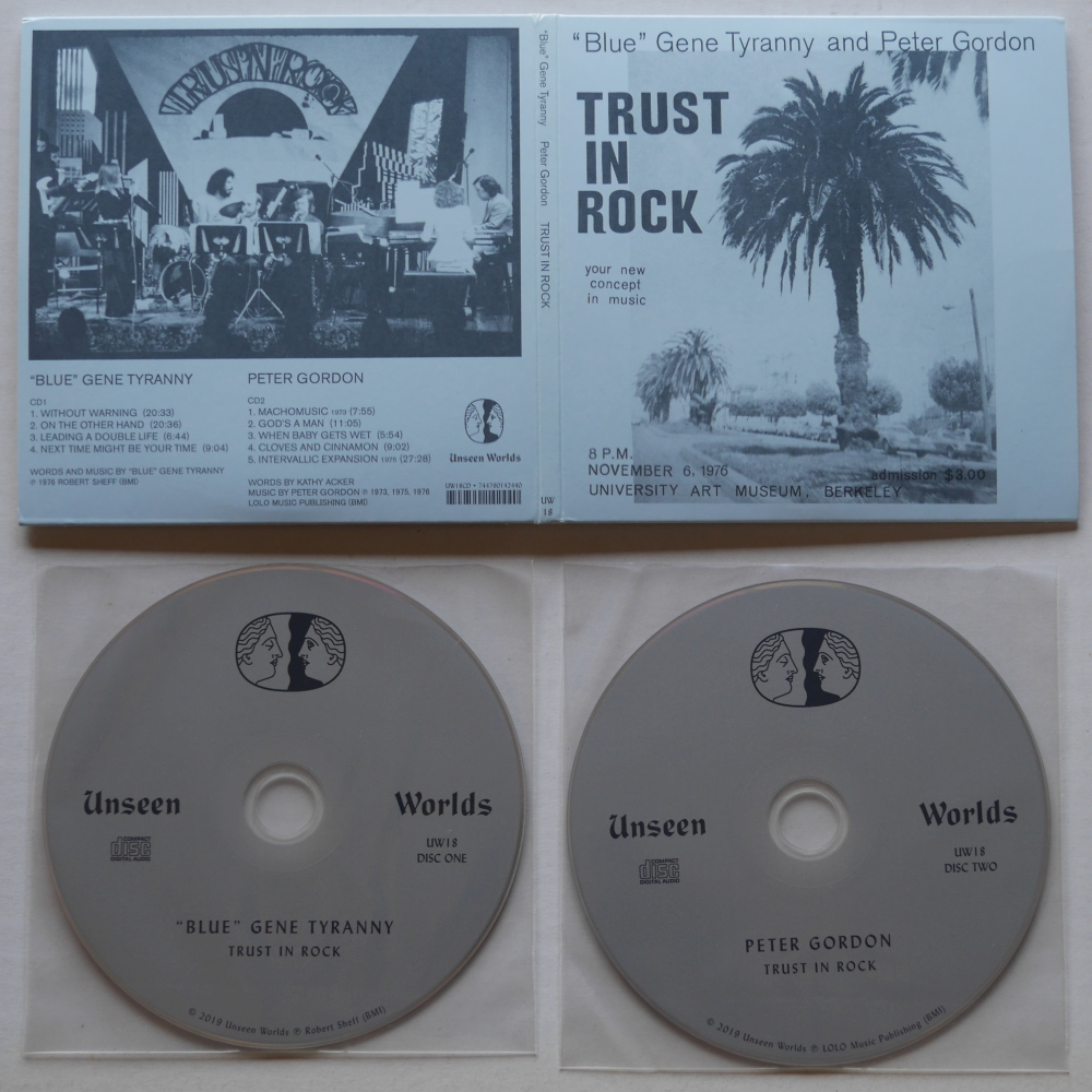 """Blue"" Gene Tyranny and Peter Gordon「TRUST IN ROCK」"