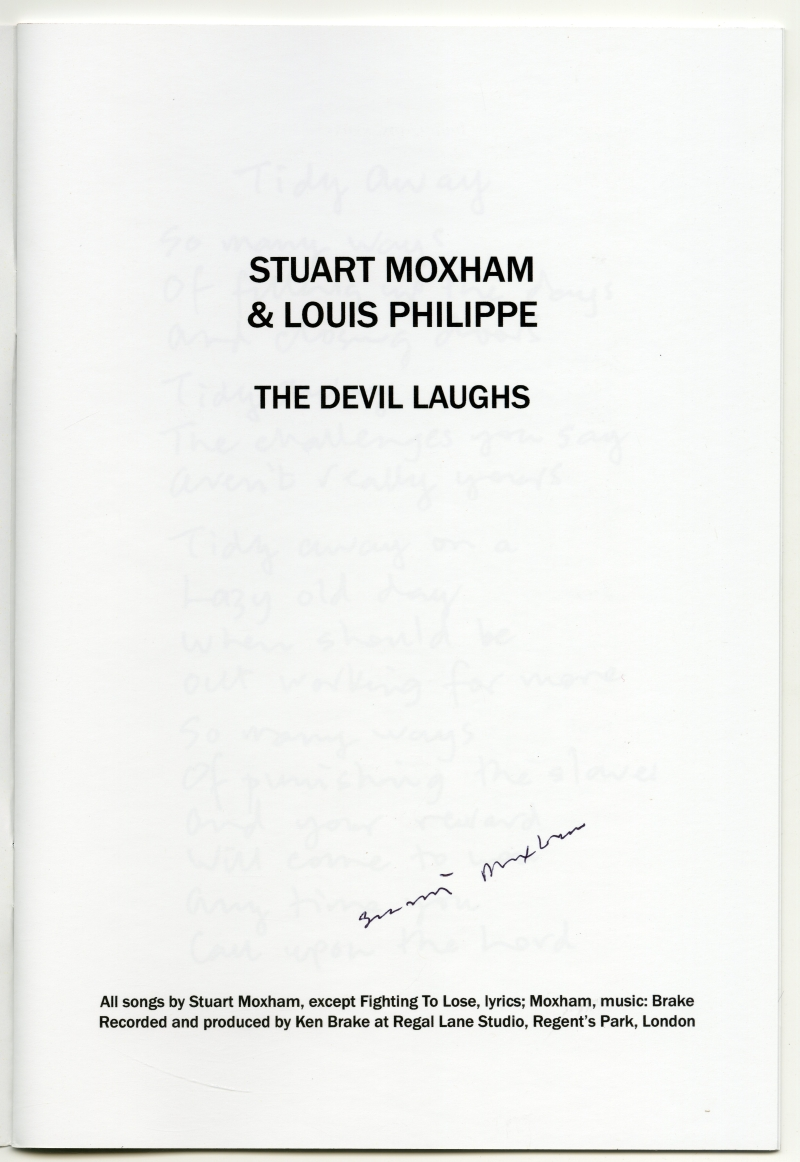Stuart Moxham & Louis Philippe『The Devil Laughs』ブックレット02