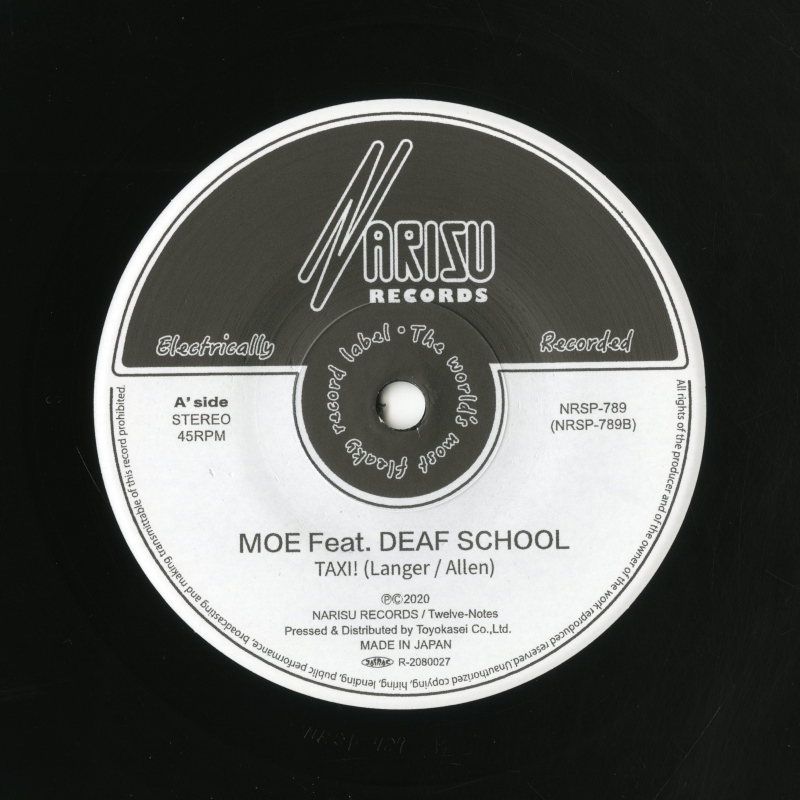 A' side MOE Feat. DEAF SCHOOL「TAXI」ラベル