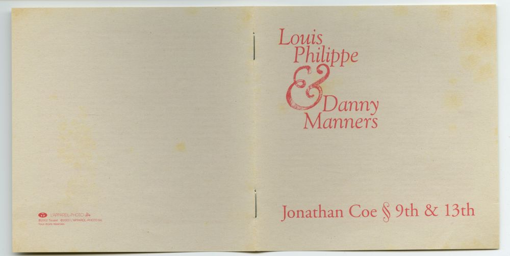 Louis Philippe & Danny Manners 『Jonathan Coe 9th & 13th』04